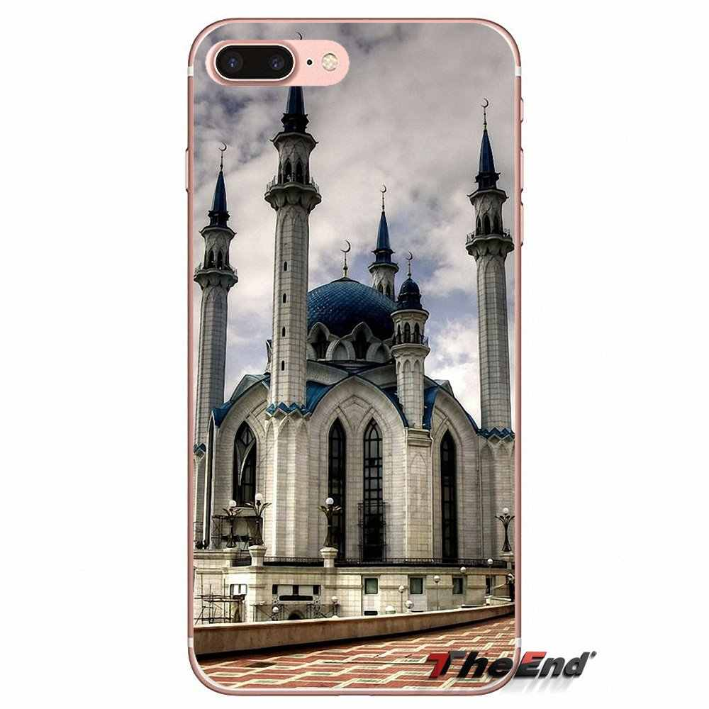Qolsharif Mosquée Kazan Russie Souple étui pour htc one M7 M8 A9 M9 M10 E9 Plus Désir 630 530 626 628 816 820 Motorola G G2 G3
