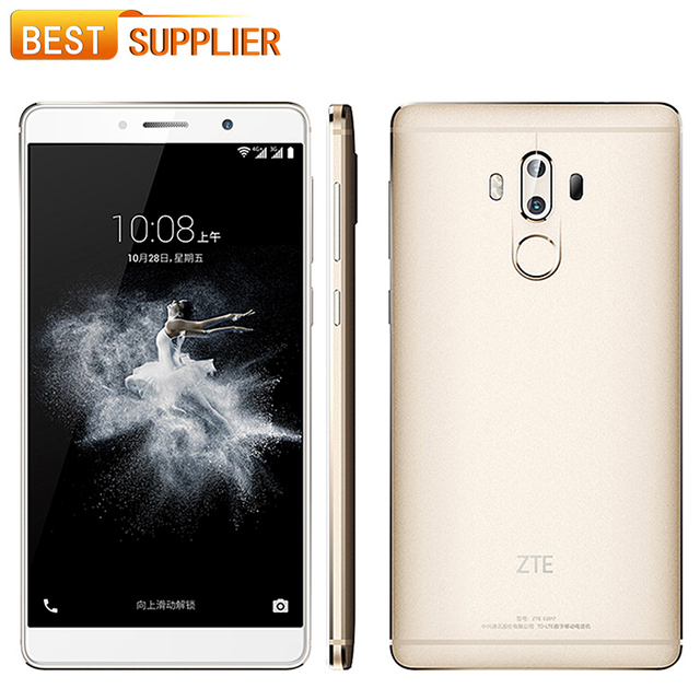 Original ZTE Axon 7 Max 4GB RAM 64GB ROM 4G LTE Mobile Phone 6.0″ 1920*1080 FHD Android 6.0 Octa Core 13.0MP Fingerprint