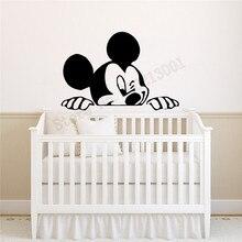 Mickey Kidsroom Wall Decoration Vinyl Design Diy Poster Beauty Fashion Modern Ornament Cute Babyroom Decals LY1104