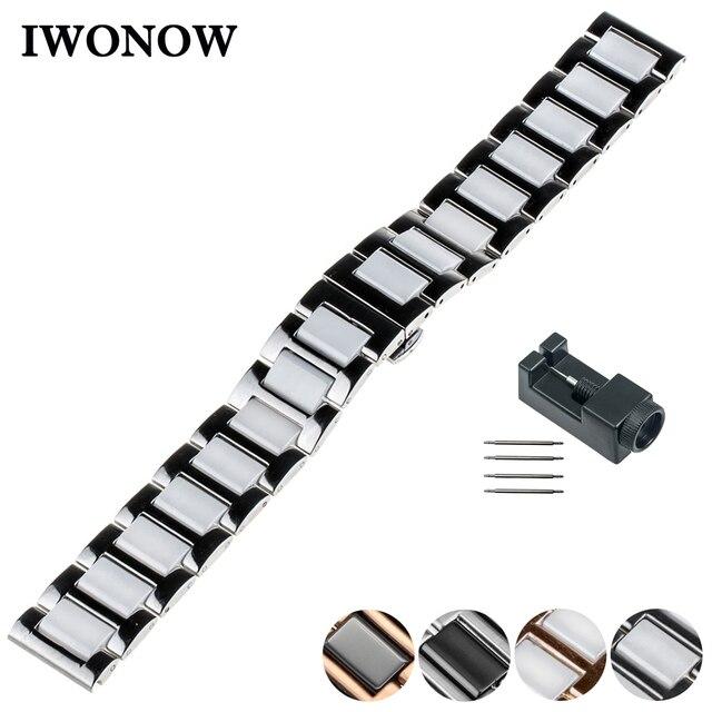 62dfac62e0a Faixa de Relógio de cerâmica 20mm 22mm para Diesel Borboleta Bracelete de  Pulso Pulseira Cinto de