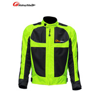 Riding Tribe Motorcycle Jacket Summer Mesh Breathable Windproof Motocross Off Road Racing Armor With 5 Protective