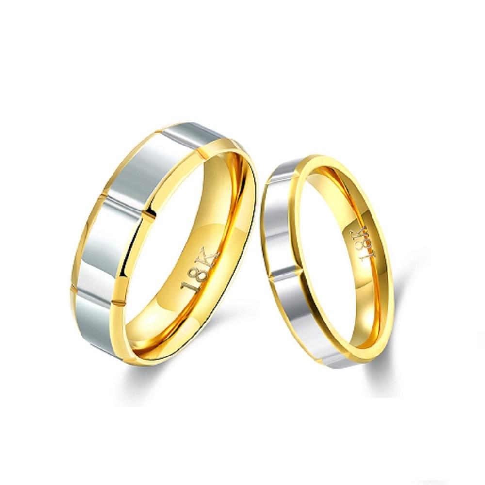 Gepaart Zwei Verlobungsringe Paar Hochzeit Silber Uberzogener Ring