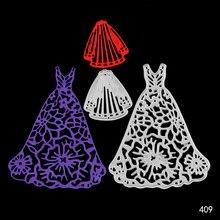 Wedding Dress Veil Metal Cutting Dies Seal for DIY Scrapbooking/photo Album Decorative Clear Stamp Sheets