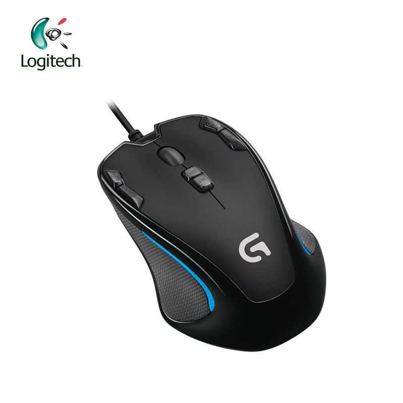 Logitech G300S Wired Gaming Mouse for Laptop PC Gamer Mouse 2500DPI 9 Rechargeable Programmable Buttons Support Official Test