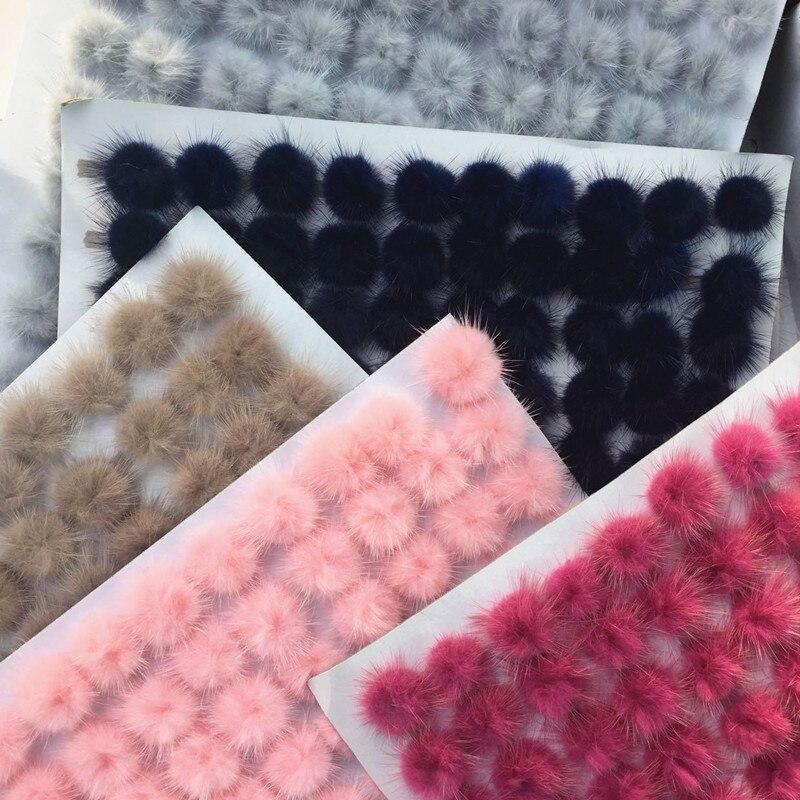 5 шт. DIY помпон 3 см норковые помпоны меховые шарики для шитья на Плетеный брелок шарф обувь шапки мех помпон DIY ремесла аксессуары