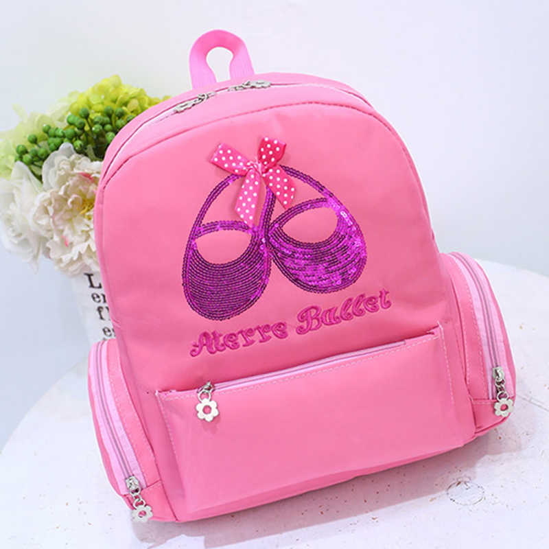56fe670cff1c girls Ballet Dance Bag Children Waterproof Pink Ballet Bag Backpack Ballet  shoes Paillette Embroidery Cute Dance