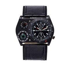 2017 Cuartos Reloj de Los Hombres Del Ejército Militar Reloj de Pulsera Con Función de Brújula termómetro Al Aire Libre Del Deporte de Reloj relogio masculino