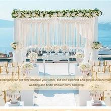 Wedding Backdrop Macrame Boho Theme Decoration Bohemian Beautiful Photo Fringe Garland Banner Home