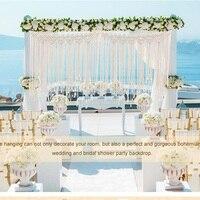 Wedding Backdrop Macrame Boho Theme Wedding Decoration Bohemian Beautiful Photo Backdrop Fringe Garland Banner Home Decoration