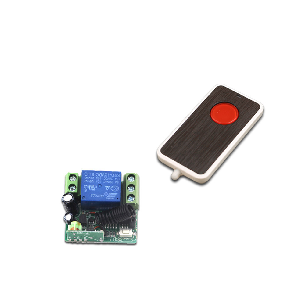 DC 12V 1CH 1 CH Wireless Remote Control Switch Mini 10A Relay Receiver RF Remote Switch 315Mhz 433MHZ + Red Button Transmitter new ac220v 1 ch wireless remote control lighting switch 10a relay mini receiver and 2keys remote controller for lights