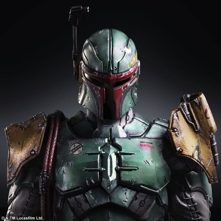 Play Arts 26cm Star War Original Boba Fett Action Figure Model Toys