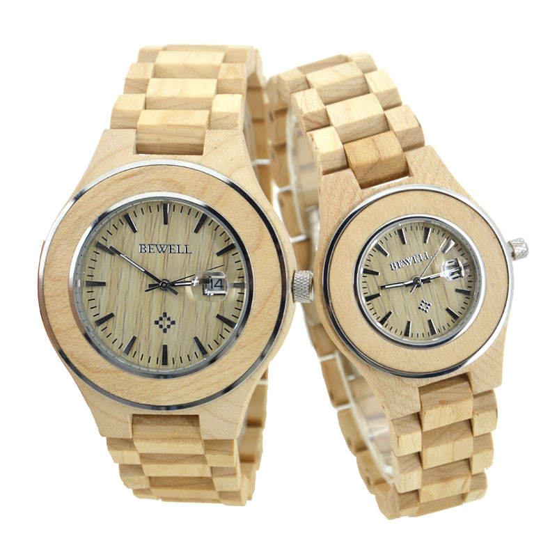 BEWELL men's watch women's watch couple style high quality top brand design luxury quartz watch lightweight fashion simple 100A