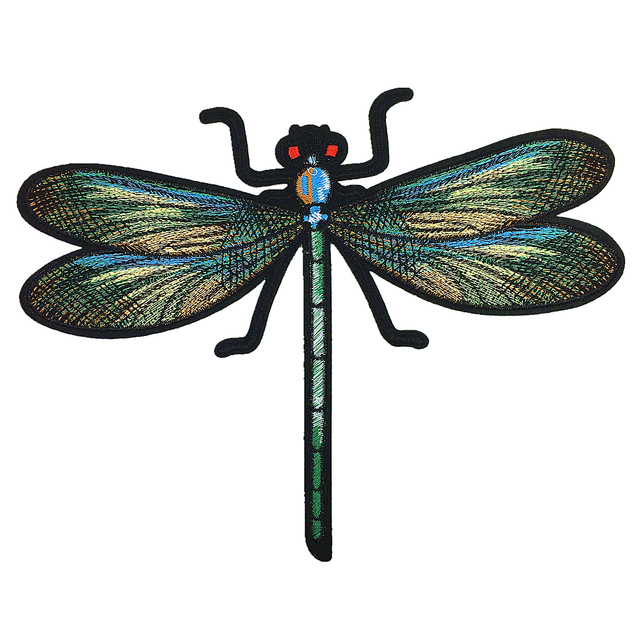 3pc Large Dragonfly Embroidery Patch Embroidered Applique Insect