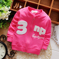 Spring Casual Cute Letter Long Sleeve Girls Jackets Cardigan Baby kids Infant Children Outwear  Roupas Casaco S2707