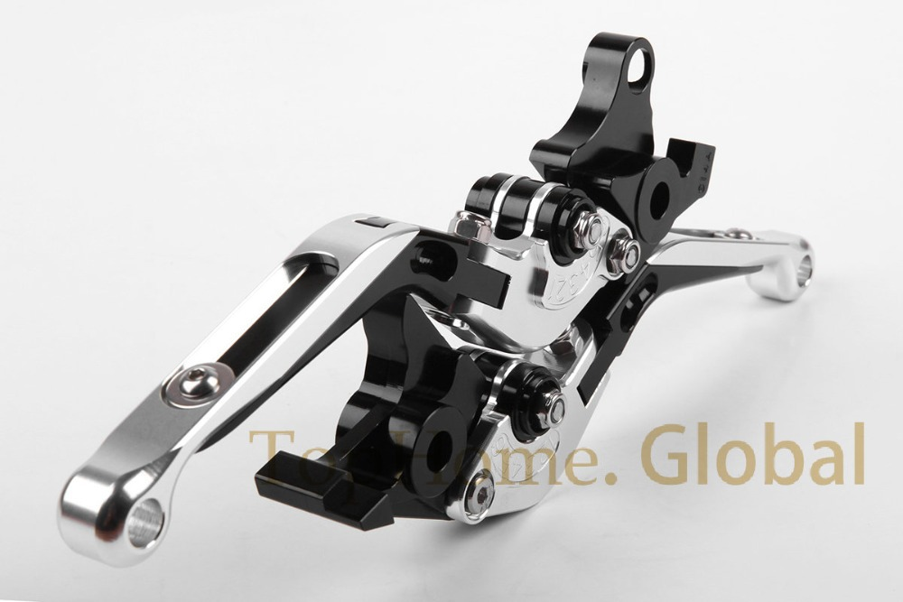 CNC Foldable&Extendable Brake Clutch Levers For YAMAHA TDM 900 2002 2003 Silver/Black foldable brake clutch levers for yamaha 2002 2003 yzf r1