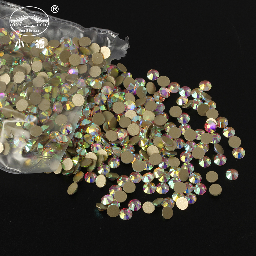 Super Glitter Rhinestones 1440pcs pack Ab Crystal Glass Flatback Rhinestones 3d Nail Art Rhinestones Decorations Y006 in Rhinestones Decorations from Beauty Health