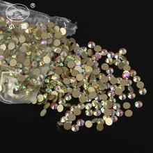 Super Glitter Rhinestones 1440pcs/pack Ab Crystal Glass Flatback 3d Nail Art Decorations Y006