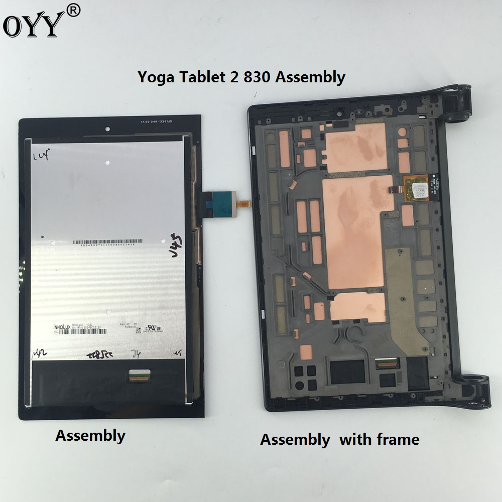 LCD Display Panel Screen Monitor Touch Screen Digitizer Glass Assembly with frame For 8 Lenovo Yoga Tablet 2 830 830L 830F for acer iconia one 7 b1 750 b1 750 black white touch screen panel digitizer sensor lcd display panel monitor moudle assembly