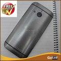 Серый корпус крышка батарейного отсека назад чехол дверь кнопка с клавиши Регулировки Громкости Для HTC One Mini 2 M8 mini Бесплатная доставка, 1 шт./лот