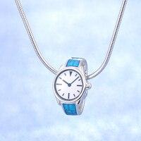 Sıcak satış yeni varış 2018 popüler tasarım mavi İzle 925 ayar gümüş kolye kolye