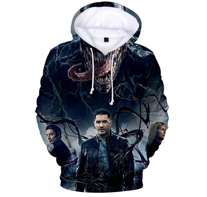 Comic Venom Hoodie Sweatshirts Men Superhero Anime Cool Black Autumn Winter Tops Plus Velvet Warm Hoody Couple Hip Hop Pullovers (6)