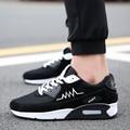 Новое прибытие высота увеличение весна и осень черные мужчины обувь кроссовки моды смешанных цветов мужская воздуха повседневная обувь zapatos hombre