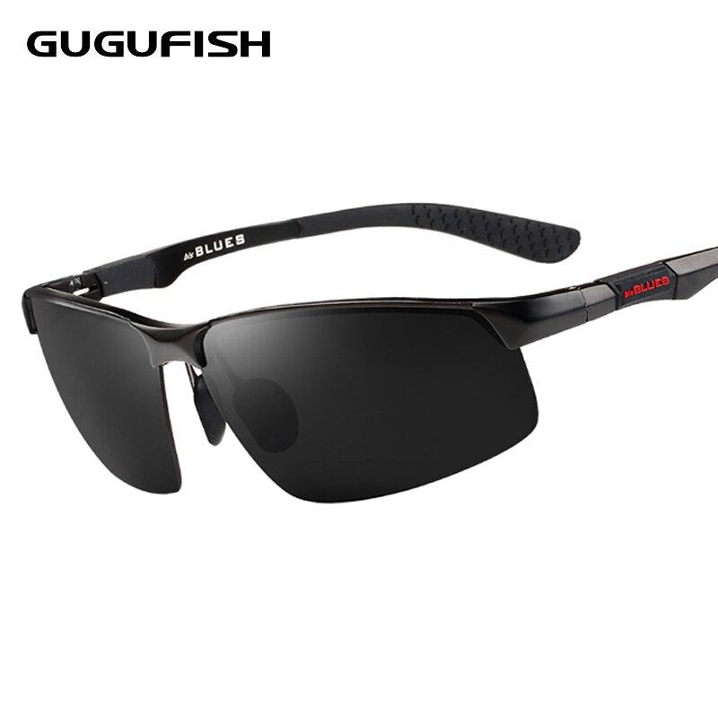 GUGUFISH Aluminium magnesium polarisierte sonnenbrille männliche Angeln gläser freizeit polarisierte angeln brillen fahrt sonnenbrille brillen