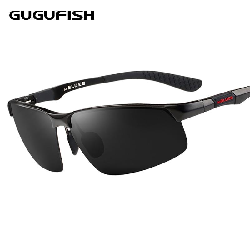 GUGUFISH aluminio magnesio polarizado gafas de sol pesca masculinos ocio deporte pesca paseo gafas de sol