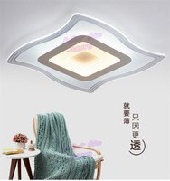 Square led lamp sitting room bedroom light dining room lamp can adjust the brightness of the ultra thin light