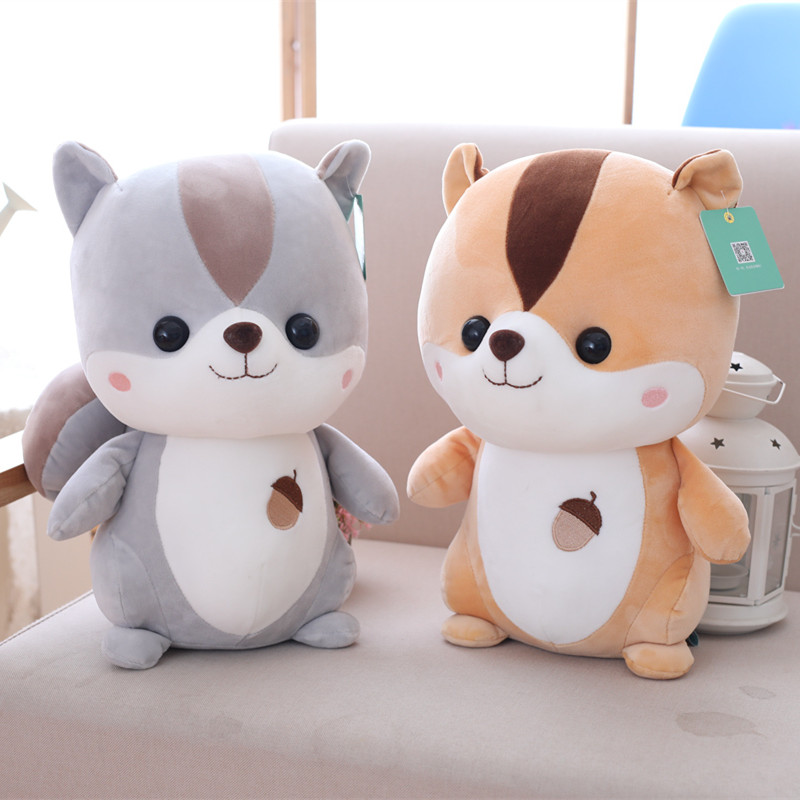 1pc 25cm Cute Squirrel Plush Toy Staffed Cartoon Animal Doll Kawaii Baby Kids Appease Toy Creative Children Girls Birthday Gift