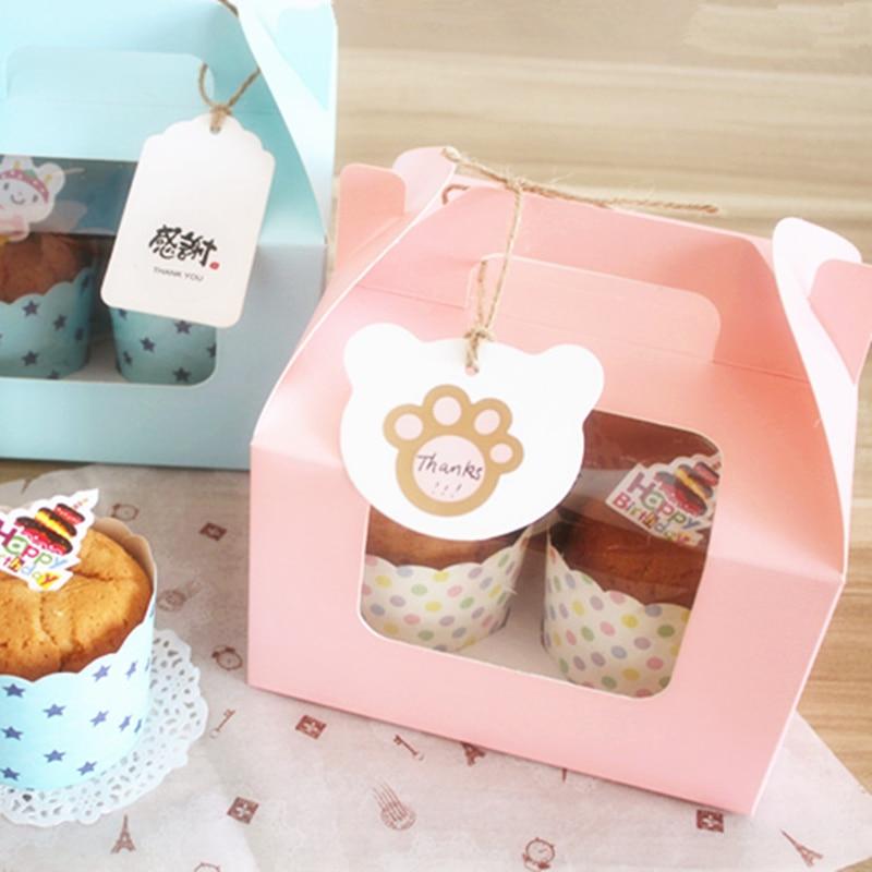 10 komada Plavo / roze 4 šalice kolača s donjim - Za blagdane i zabave - Foto 3
