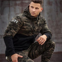 Asstseries Brand 2017 New Fashion Spring Autumn Mens Hoodies Camouflage Style Hoodie Army Sweatshirt Tracksuit Male