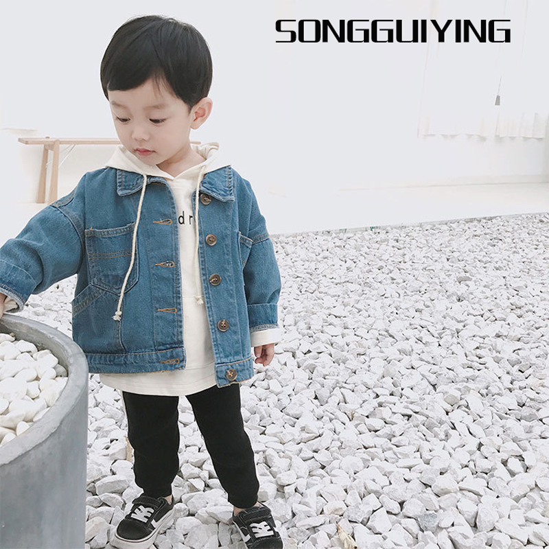 ad38ae2c1b2 SONGGUIYING A258 Spring Autumn Baby Boys Girls Denim Jackets Coats Clothes  for Children Boy Girl Baby