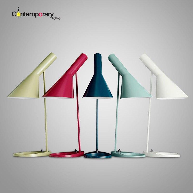 Demmark Design Black Replica Arne Jacobsen Table lamp Europe AJ Desk Lamp Cafe Aisle Hall read Lamp LED bulb E27 bedroom decor цена