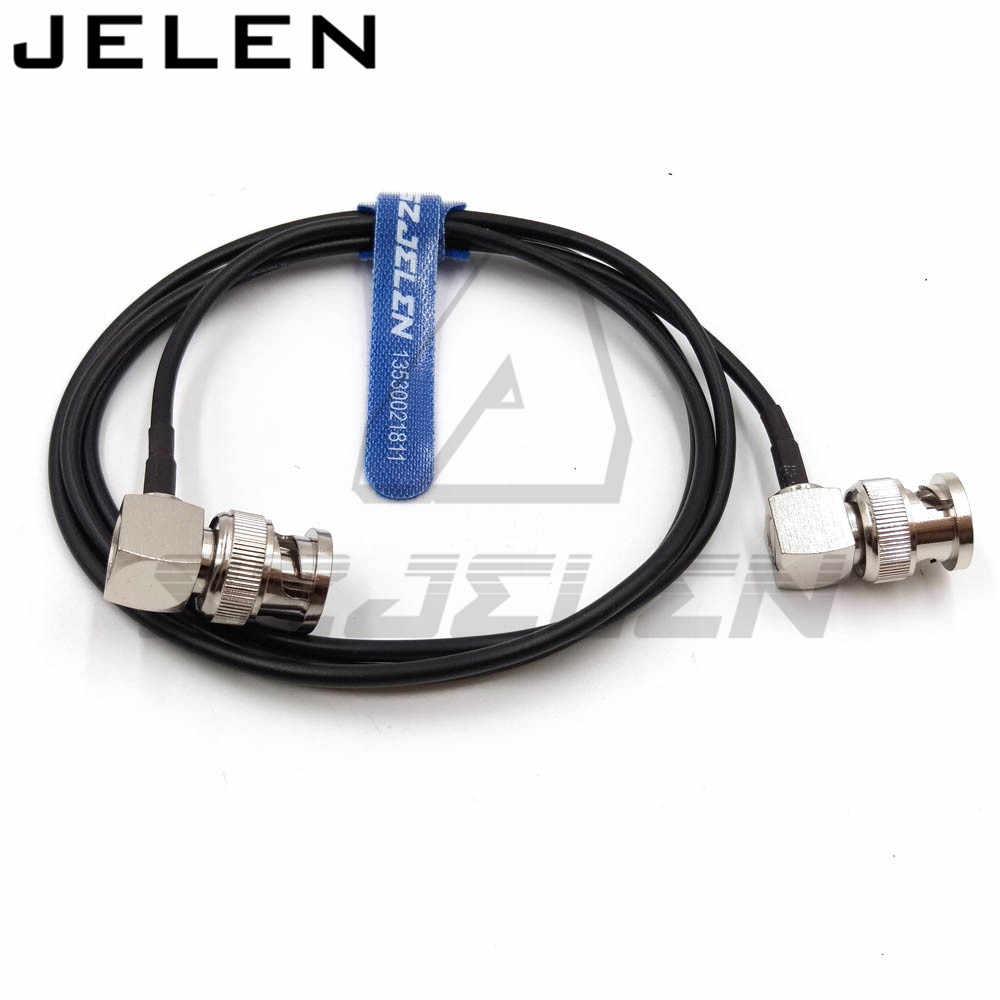 Ultra-zachte SDI video signaal kabel, camera monitor SDI lijn, BNC plug naar BNC pluggen elleboog, SDI pigtail. Camera RF coaxiale kabel