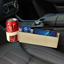 Foldable Storage Box Car Organizer Seat Gap Leather Case Pocket Car Seat Side Slit For Universal Car Accessories Holder(China)