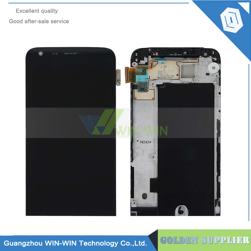 New For LG G5 H850 LCD Display with Touch Screen Digitizer Assembly With Frame for LG G5 H840 Black replacement Free Shipping 5pcs lot 100% original new display screen lcd assembly with frame for lg nexus 5 d820 d821 lcd black