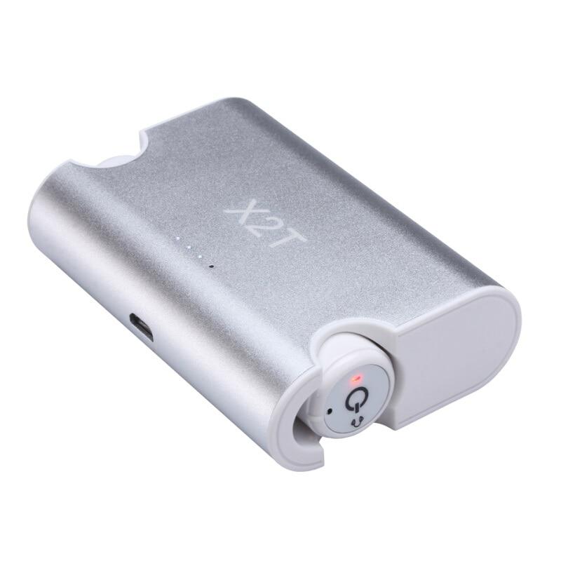 X2T Portable True Mini TWS Wireless Earphone In Ear Bluetooth CSR 4.2 Earbuds With Microphone earbuds for iPhone 6s Xiaomi Mp3 2 in 1 wireless bluetooth earphone