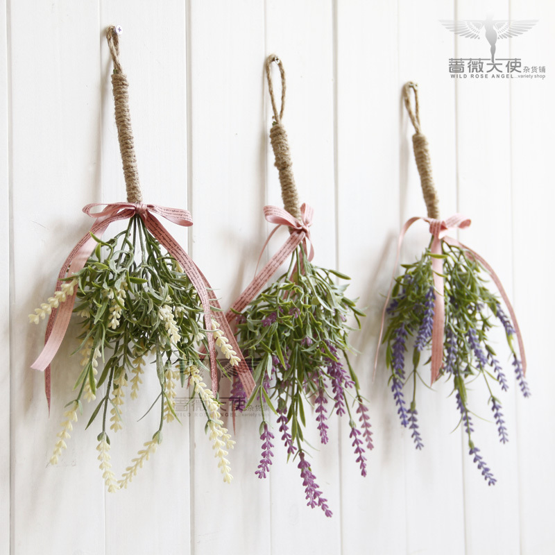 Free shipping French countryside simulation of provence lavender hanging vertical hanging beam storefront  home decoration