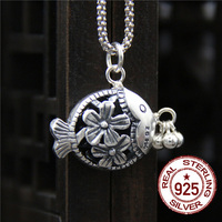 The Couple S 925 Sterling Silver Pendant The Small And Hollow Small Fry Flower Hang A