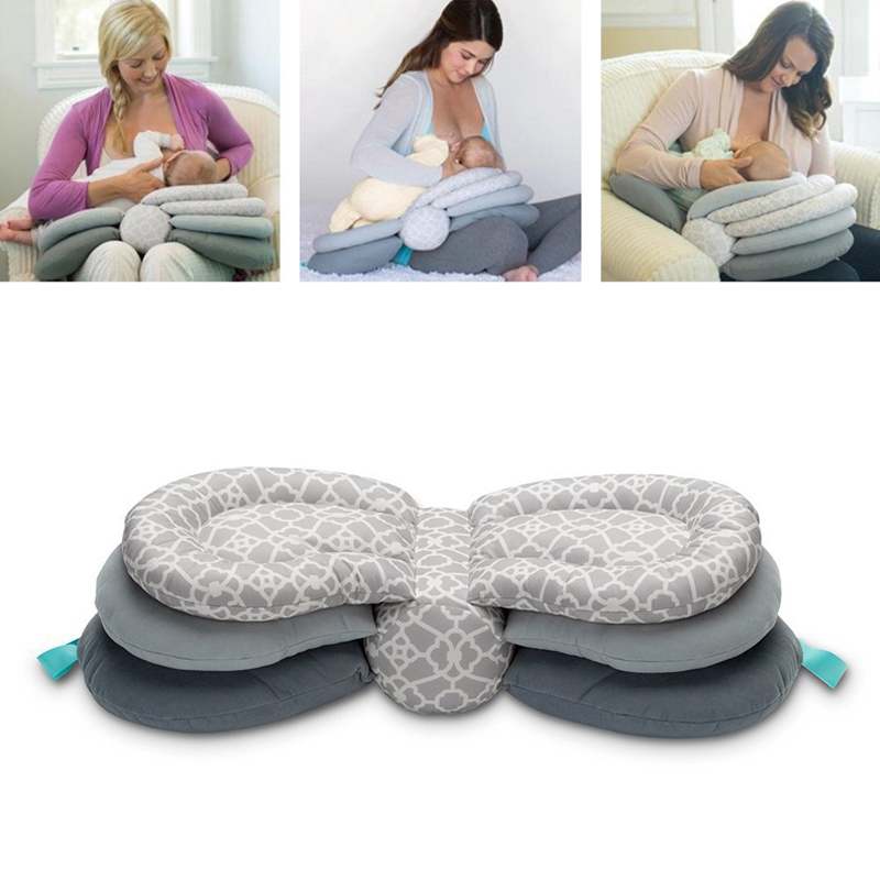 Smart Nursing Pillow Newborn Baby Breastfeeding Head Protection Adjustable Mother Feeding Cradle Boppy Pillows for Baby