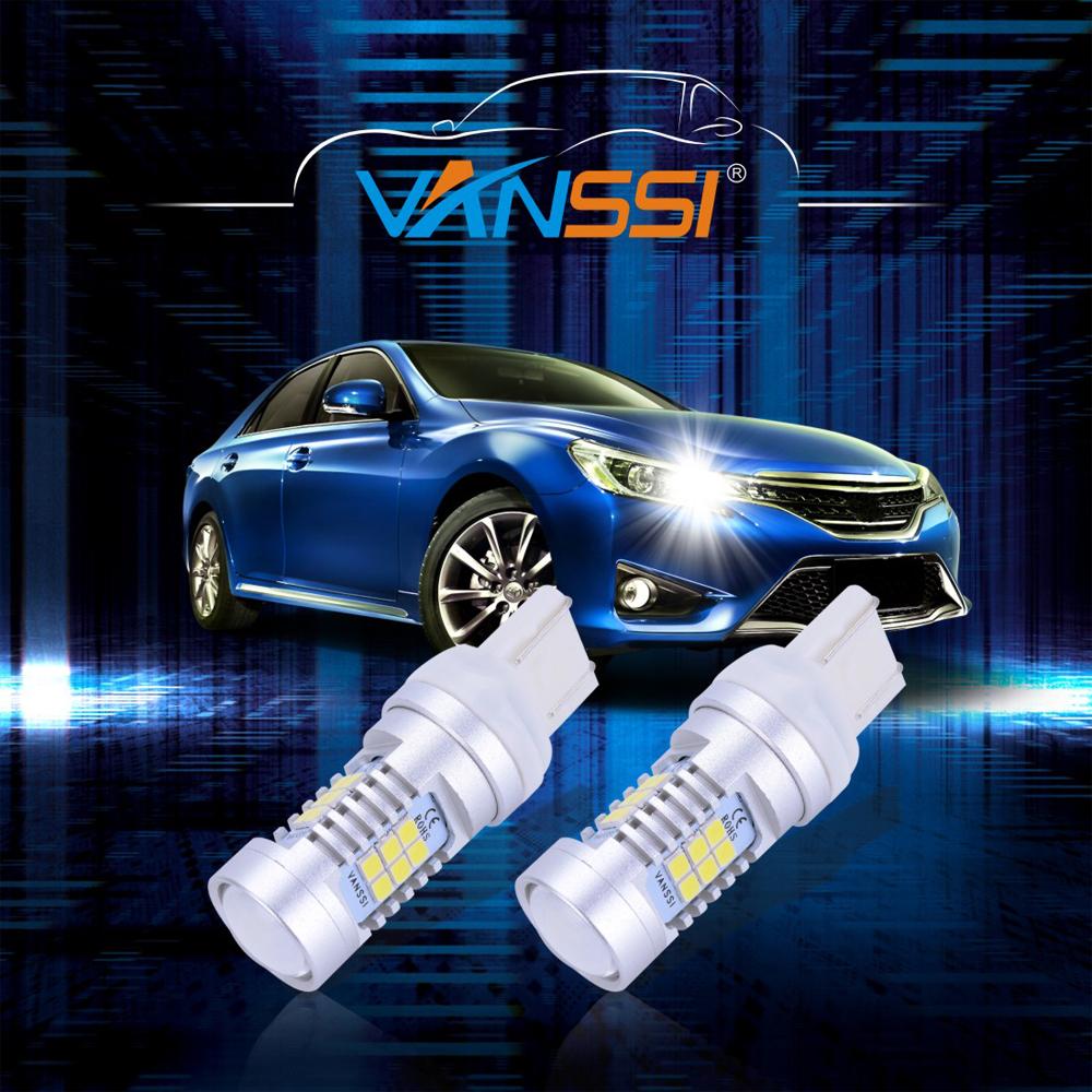 vanssi 2х т20 w21w в водить в w21/5 вт светодиодов 7440 7443 srck 21smd светодиодные лампы для автомобиля тормозной обратного парковка ДРЛ туман свет лампы