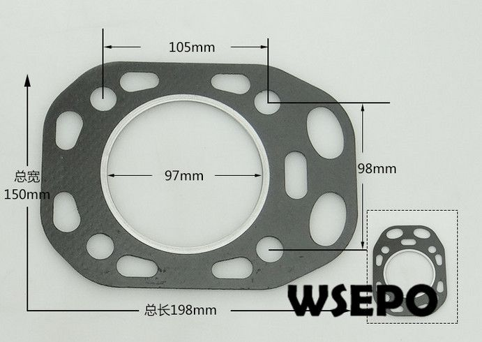 OEM Quality! Cylinder Packing/Head Gasket for S195 4 Stroke Small Water Cooled Diesel EngineOEM Quality! Cylinder Packing/Head Gasket for S195 4 Stroke Small Water Cooled Diesel Engine