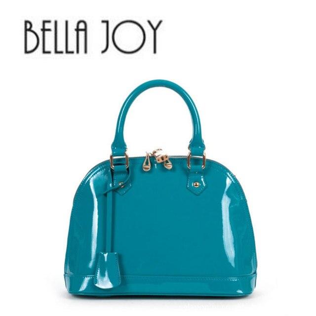 e16928bd63fee بيلا الفرح جلد طبيعي حقيبة يد نسائية حقيبة ساعي أنيقة جلد البقر أزياء قذيفة  حقيبة المرأة