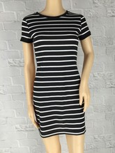 Summer New Round Neck Striped Short-sleeved Dress