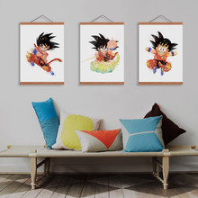 Watercolor Canvas A4 Art Print Poster Dragon Ball (3 styles)