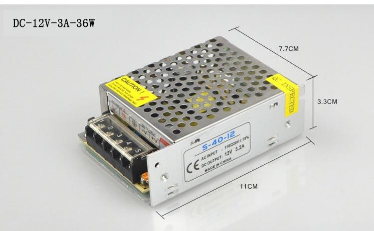 DEL Driver Alimentation Transformateur AC100-240V DC3-84V 24 W À faire soi-même Panneau DEL Lumière