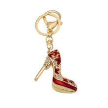 Bag Pendant Diamante High Heel Crystal High-heeled Shoes Heels Diamond-encrusted  Gift KeyChain Women Wallet Handbag Schoolbag b29a27886b6e