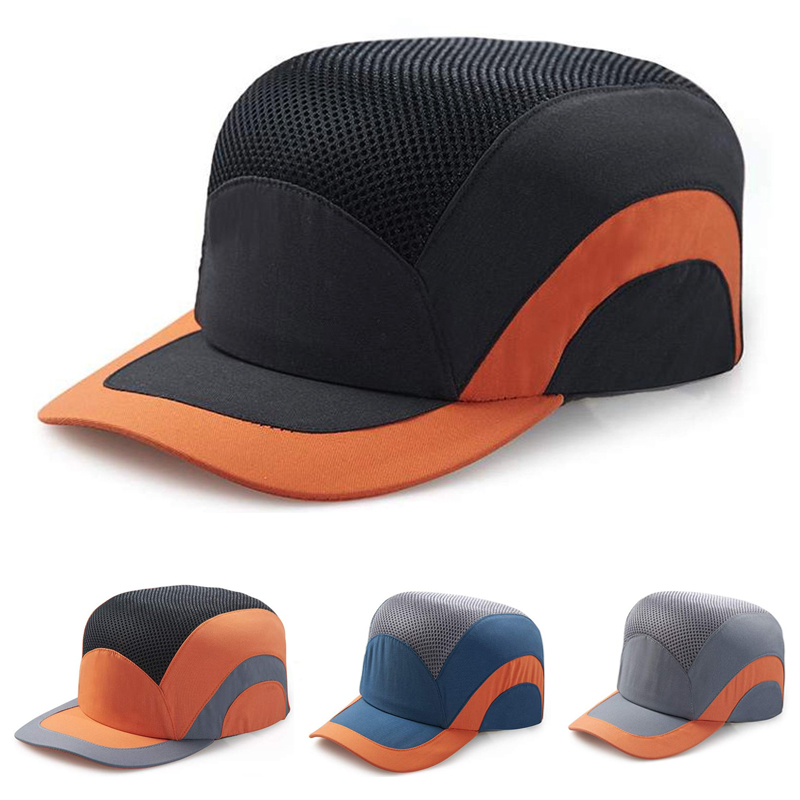 Fashion Baseball Bump Cap Safety Hard Hat Head Protection Cap Adjustable Protective Hat casual letter c shape baseball hat