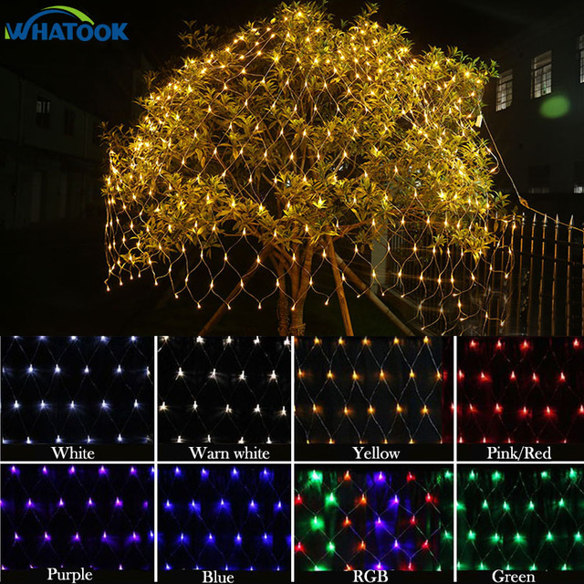 64 m pink purple led net lighting large size christmas lights outdoor decorative